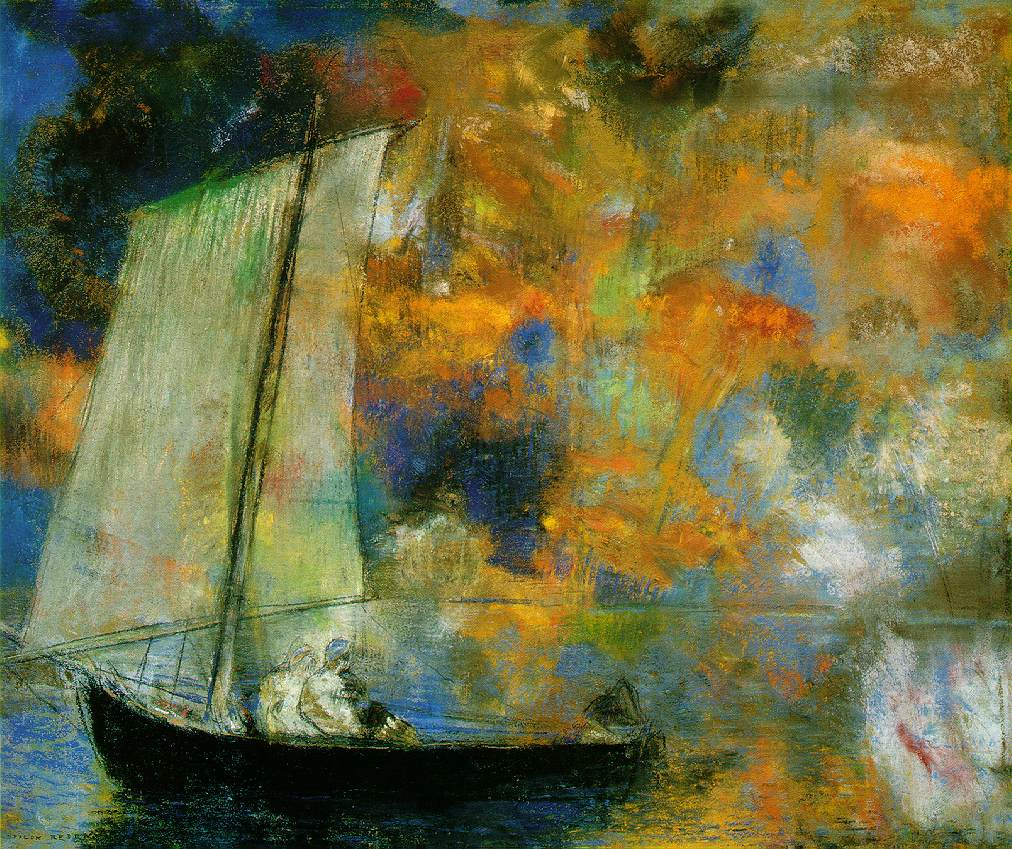 Redon.flower-clouds
