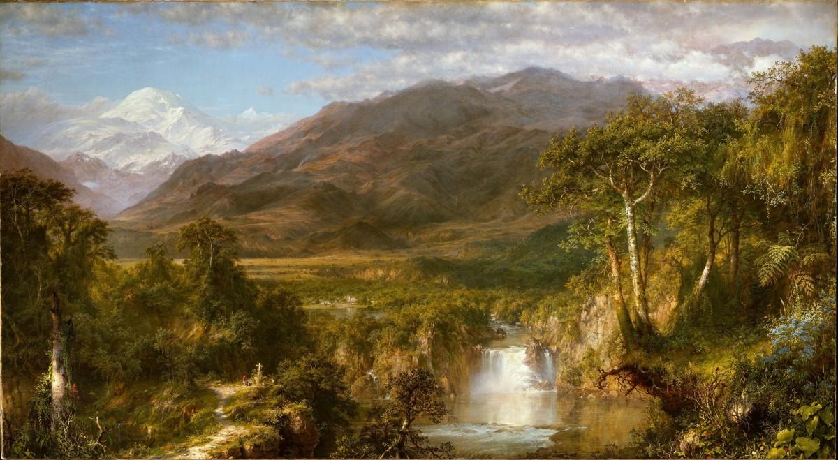 Andų širdis, Frederic Edwin Church piešinys, 1859 m.